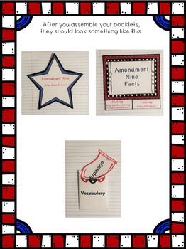 Constitutional Bill of Rights: Amendment Nine Interactive Foldable Booklets