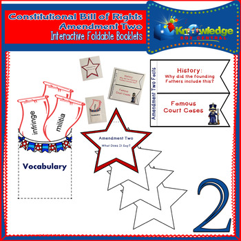Constitutional Bill of Rights: Amendment Two Interactive Foldable Booklets