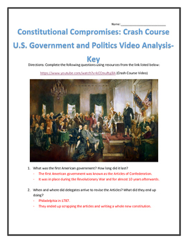 Constitutional Compromises: Crash Course U.S. Government and Politics Analysis