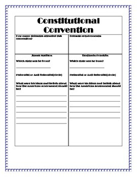 Constitutional Convention Activities