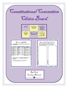Constitutional Convention Choice Board