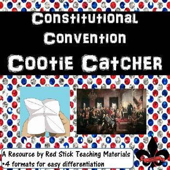 Constitutional Convention Cootie Catcher