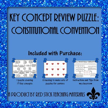 Constitutional Convention Key Concept Puzzle