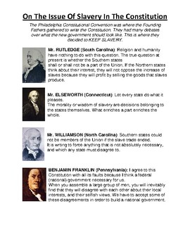 Constitutional Convention: On the Issue of Slavery Speeches (Day 2)