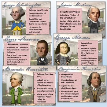 "Constitutional Convention Pop-Up Figures ""Rise of Democracy"" Lesson"