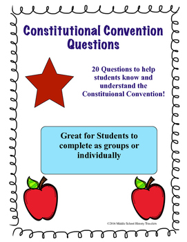 Constitutional Convention Questions