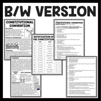 Constitutional Convention Reading Comprehension Worksheet