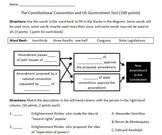 Constitutional Convention and US Government Test