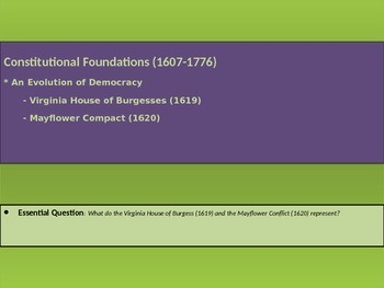 1. Constitutional Foundations - Lesson 3 of 8 - Colonial Governments