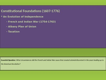 1. Constitutional Foundations - Lesson 5 of 8 - French & Indian War
