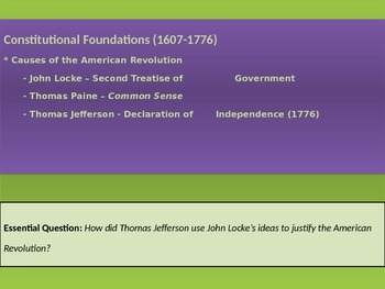 1. Constitutional Foundations - Lesson 8 of 8 - Revolution