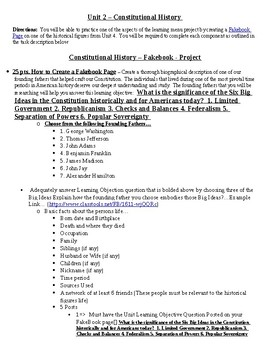Constitutional History Project - Fakebook on the Founding Fathers