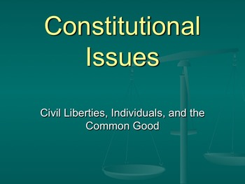 Constitutional Issues CBA PowerPoints 1-5