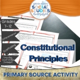 Principles of the Constitution   Analyze a Primary Documen