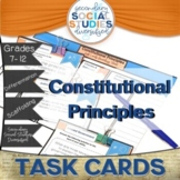 Principles of Government | Constitution | Task Cards and N