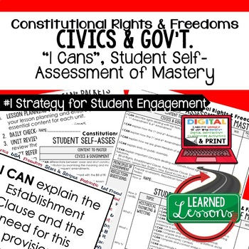 Constitutional Rights and Freedoms I Cans, Self-Assessment of Mastery, CIVICS