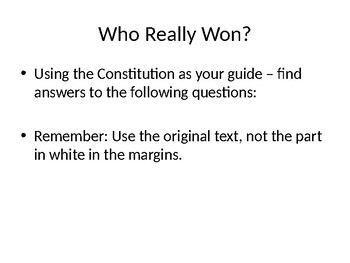 Constitutional Role Play Powerpoint