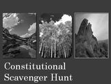 Constitutional Scavenger Hunt printable worksheet government activity &answers!