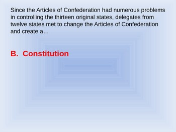 Constitutional Trivia PowerPoint Fifth Grade
