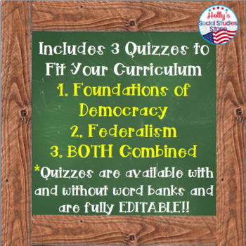 Foundations of American Democracy Vocab Quiz: AP® Government (UPDATED for 2019)