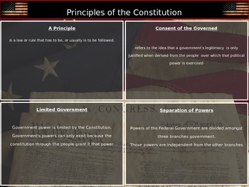Constitutional Underpinnings Session 3: Principles of the Constiution