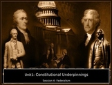 Constitutional Underpinnings Session 4: Federalism