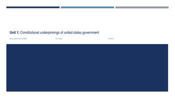Constitutional Underpinnings of US Government PPT