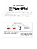LAW - Constitutional Word Wall Activity