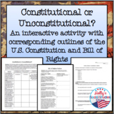 Constitutional or Unconstitutional? Activity and Constitut