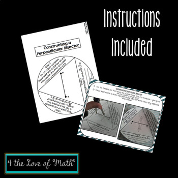 Construct Parallel Lines and Perpendicular Bisectors Interactive Notebook Pages