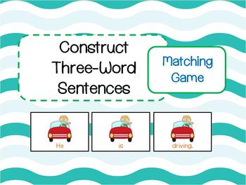 Construct  Three-Word Sentences Matching Game