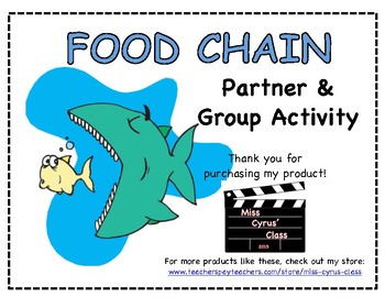 Construct a Food Web Poster (VA Science SOL 5.8) - Partner/Group Project