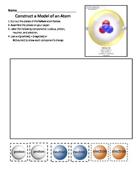 Construct a Model of a Helium Atom