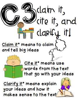 Constructed Response Anchor Chart Poster Writing Guide
