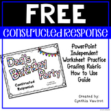 Math Constructed Response - Birthday No Prep