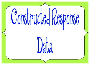 Constructed Response Data Folder