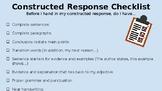 Constructed Response Editing Checklist
