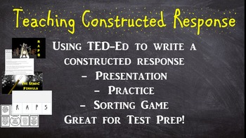 Constructed Response Explanation and Practice