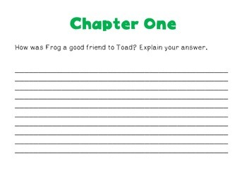 Constructed Response: Frog and Toad Together
