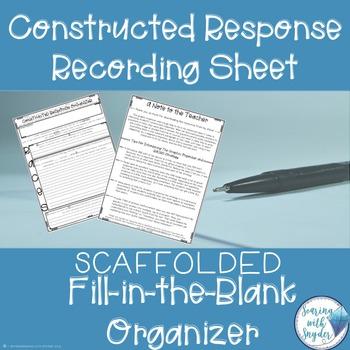 Constructed Response Graphic Organizer Freebie