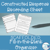 Constructed Response Graphic Organizer Freebie