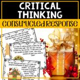 Constructed Response - Math Christmas - No Prep