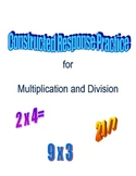 Constructed Response Math Practice Multiplication and Division