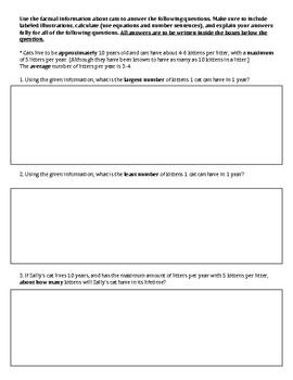 Constructed Response Math Word Problems (with science balanced environment)MJ