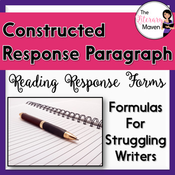Constructed Response Paragraph - Reading Response Forms