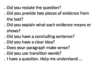 Constructed Response Plan and a Feedback