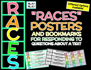 Constructed Response Posters and Bookmarks - Different Options! RACES Strategy