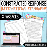 Constructed Response  {Informational Set}