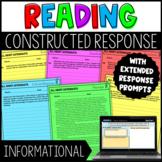 Constructed Response Tasks with Digital Google Slides Version - Informational