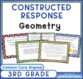 Math Constructed Response Word Problems: 3rd Geometry (G)